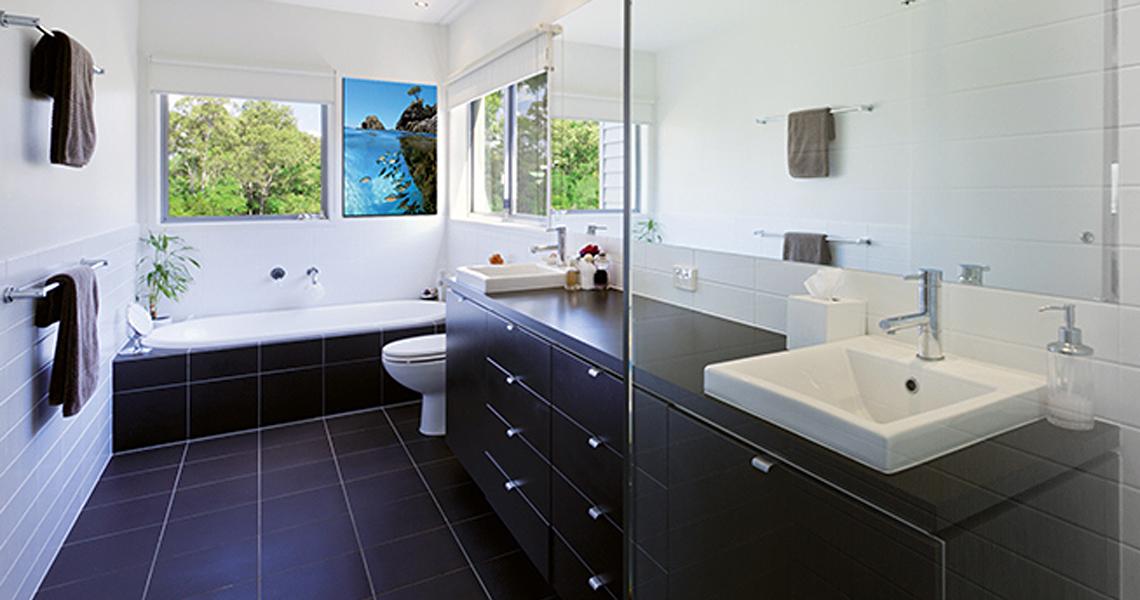 bad mit infrarotheizung heizen mit infrarot. Black Bedroom Furniture Sets. Home Design Ideas