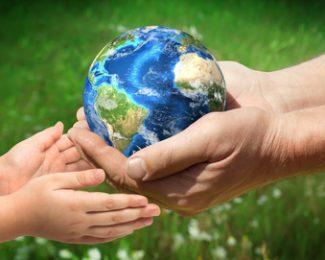 Erneuerbare Energie-die-Erde unbeschädigt an kommende Generationen geben